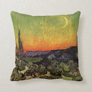 Paisaje iluminado por la luna de Vincent van Gogh Almohada