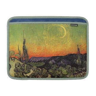 Paisaje iluminado por la luna de Vincent van Gogh Fundas MacBook