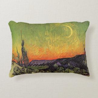 Paisaje iluminado por la luna de Vincent van Gogh Cojín Decorativo