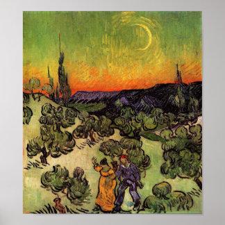 Paisaje iluminado por la luna de Vincent van Gogh Impresiones