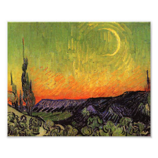 Paisaje iluminado por la luna de Vincent van Gogh Arte Fotografico
