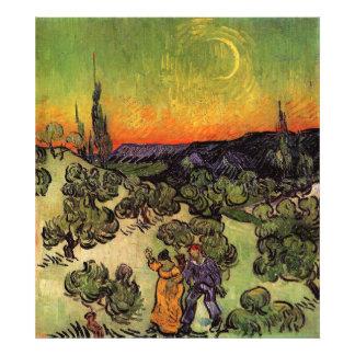 Paisaje iluminado por la luna de Vincent van Gogh Fotografia