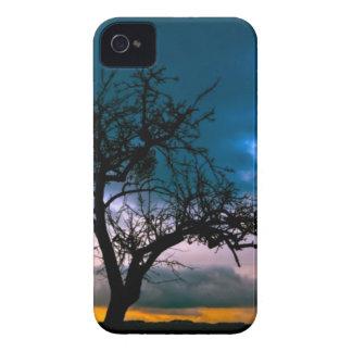 Paisaje imponente - silueta del árbol, puesta del iPhone 4 Case-Mate carcasa