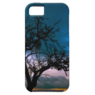 Paisaje imponente - silueta del árbol, puesta del iPhone 5 carcasa