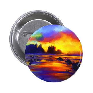 Paisaje impresionista Digital de la playa de la Pin Redondo 5 Cm