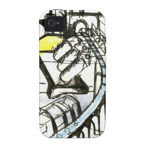 Paisaje industrial iPhone 4 carcasa