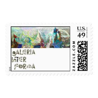 Paisaje inexistente. postage stamp