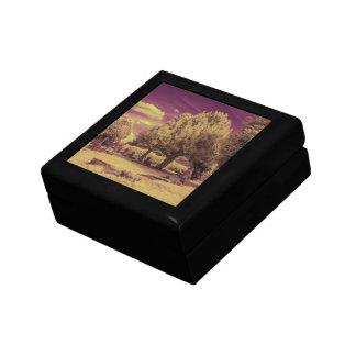 Paisaje infrarrojo del cementerio cajas de joyas