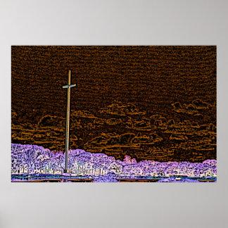 paisaje invertido del bosquejo de St Augustine de Impresiones