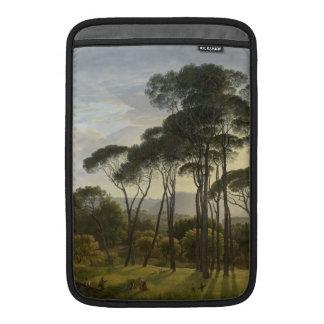 Paisaje italiano con la pintura al óleo de los pin fundas para macbook air