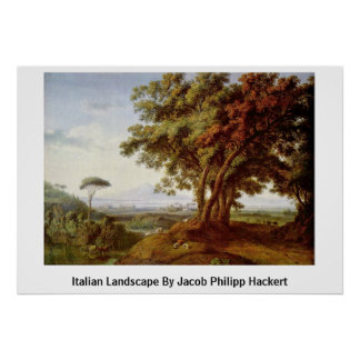 Paisaje italiano de Jacob Philipp Hackert Poster