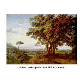 Paisaje italiano de Jacob Philipp Hackert Tarjeta Postal