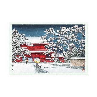Paisaje japonés fresco de Kyoto de la capilla del  Lona Envuelta Para Galerías