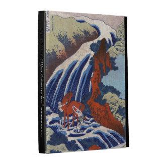 Paisaje japonés fresco de la cascada del vintage d