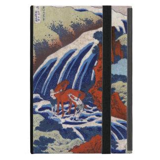 Paisaje japonés fresco de la cascada del vintage d iPad mini protectores