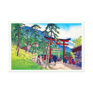 Paisaje japonés fresco de la gente de la puerta de impresiones en lona
