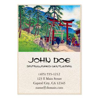 Paisaje japonés fresco de la gente de la puerta de tarjetas de visita grandes
