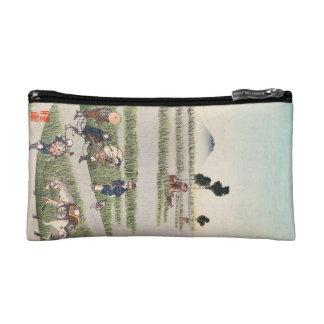 Paisaje japonés fresco de la gente del ukiyo-e del