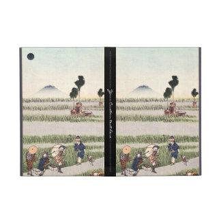 Paisaje japonés fresco de la gente del ukiyo-e del iPad mini coberturas