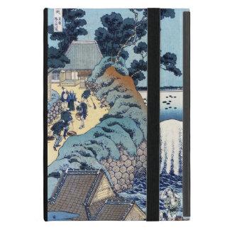 Paisaje japonés fresco de la playa del ukiyo-e del iPad mini coberturas