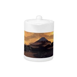 Paisaje japonés fresco de la sol de Fuji de la mon
