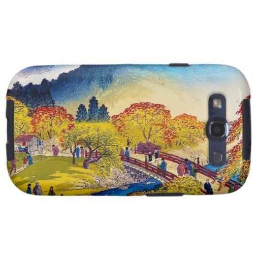 Paisaje japonés fresco del puente de Fall River de Galaxy S3 Cobertura