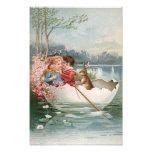 Paisaje joven de los pares del barco del conejito  foto