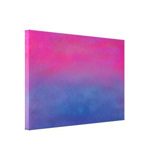 Paisaje magenta del extracto del cielo impresión en lienzo