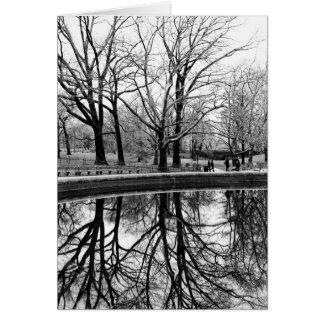 Paisaje magnífico del invierno en Central Park Felicitacion