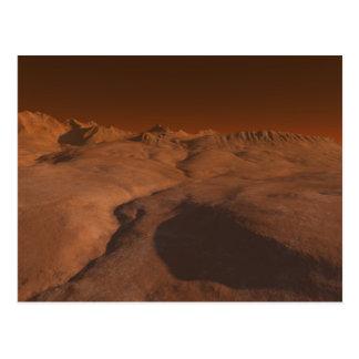 Paisaje marciano tarjetas postales