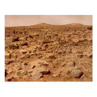 Paisaje marciano tarjeta postal