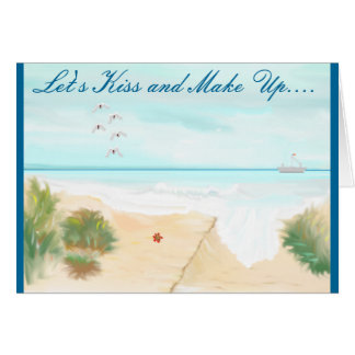 Paisaje marino #2 tarjeta de felicitación