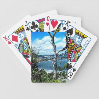 Paisaje marino barajas de cartas