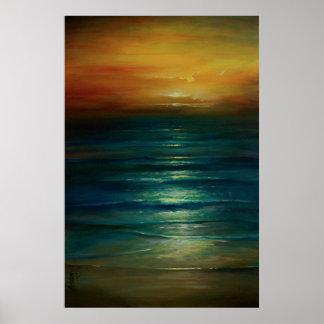 paisaje marino c208 póster