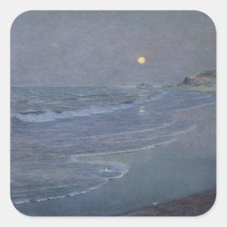 Paisaje marino, c.1892-93 pegatina cuadrada