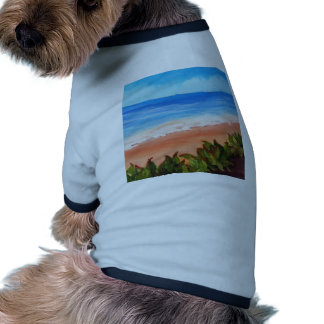 Paisaje marino camiseta de mascota