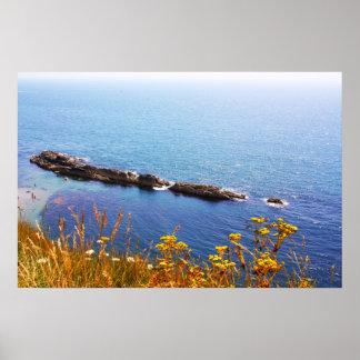 Paisaje marino - costa jurásica póster