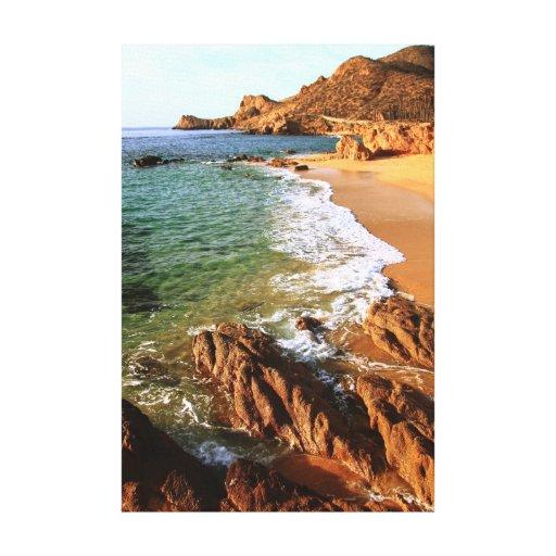 Paisaje marino costero de Los Cabos, Baja México Impresion De Lienzo
