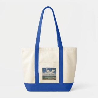 Paisaje marino de la costa atlántica francesa bolsas lienzo