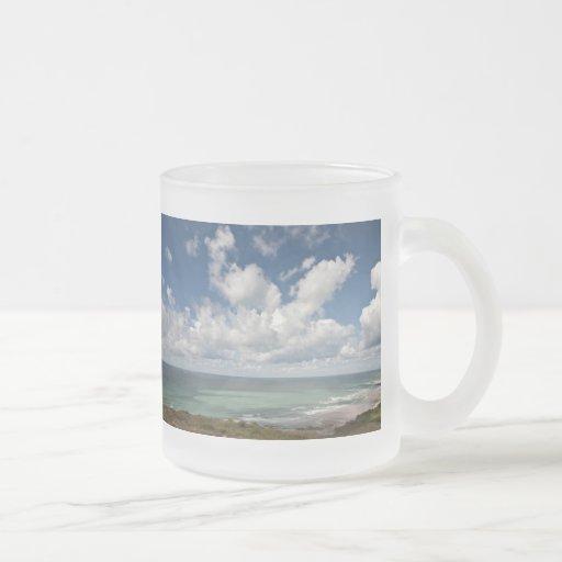 Paisaje marino de la costa atlántica francesa tazas de café