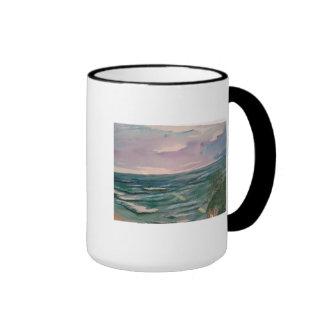 Paisaje marino de la costa de California Taza De Dos Colores
