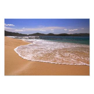 Paisaje marino de la isleta de Sandy, British Cojinete