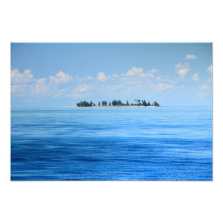 Paisaje marino de la isleta de Sandy, isla de Fotografía