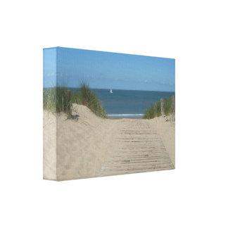 Paisaje marino de la playa y impresión blanca de l impresiones en lona estiradas