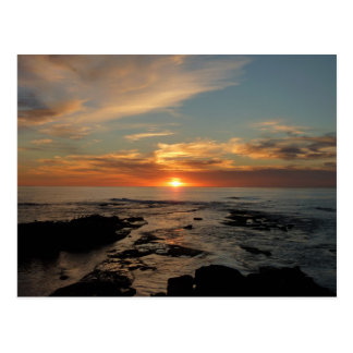 Paisaje marino de la puesta del sol II California Postal