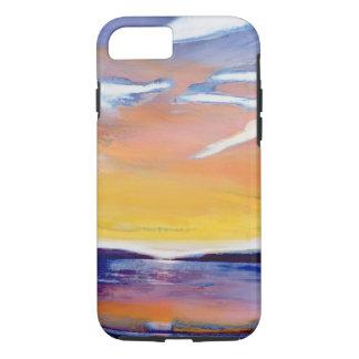 Paisaje marino de la tarde funda iPhone 7