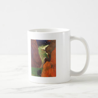 Paisaje marino de Paul Gauguin- con la vaca en el  Tazas