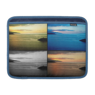 Paisaje marino de Quadriptych en la puesta del sol Funda Macbook Air