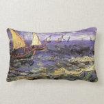 Paisaje marino de Van Gogh en Saintes Maries, arte Almohada