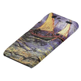 Paisaje marino de Van Gogh en Saintes Maries, arte Motorola Droid RAZR Carcasa